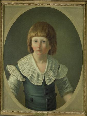 Louis XVII (1785-95) Aged 8, at the Temple, 1793