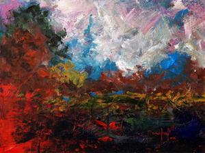 Burnt Orange Landscape by Joseph Marshal Foster