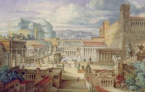 A Scene in Ancient Rome, a Setting for Titus Andronicus, Act I, Scene 3, C.1830 by Joseph Michael Gandy