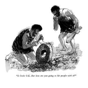 """""""It looks O.K. But how are you going to hit people with it?"""" - New Yorker Cartoon by Joseph Mirachi"""