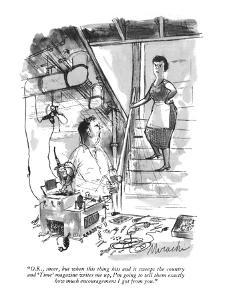 """""""O.K., sneer, but when this thing hit a and it sweeps the country and 'Tim?"""" - New Yorker Cartoon by Joseph Mirachi"""