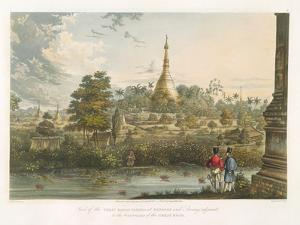 View of the Great Dagon Pagoda at Rangoon from the West, Engraved by Henry Pyall (1795-1833)… by Joseph Moore