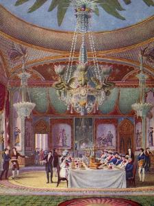 'A Banquet at the Royal Pavilion, Brighton', c1827, (1938) by Joseph Nash