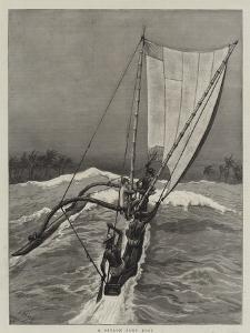 A Ceylon Surf Boat by Joseph Nash