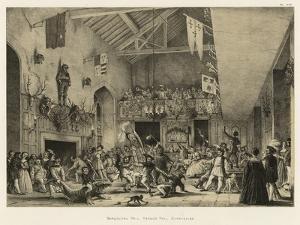 Banqueting Hall, Haddon Hall, Derbyshire by Joseph Nash
