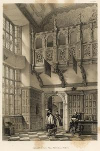 Gallery in the Hall, Hatfield, Herts by Joseph Nash