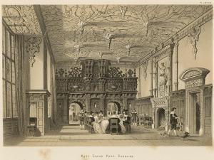 Hall, Crewe Hall, Cheshire by Joseph Nash