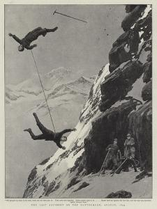 The Last Accident on the Matterhorn, August 1893 by Joseph Nash