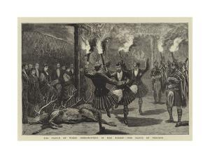 The Prince of Wales Deer-Hunting in Mar Forest, the Dance of Triumph by Joseph Nash