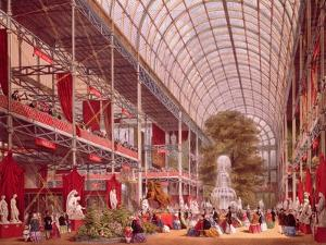 The Transept at the Great Industrial Exhibition of 1851 by Joseph Nash