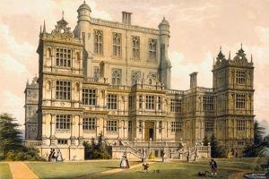 Wollaton Hall, Nottinghamshire, 1600, Illustration from 'Architecture of the Middle Ages', 1838 by Joseph Nash