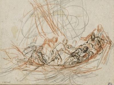 Jésus apaise la tempête ou la vocation de Simon-Pierre et André by Joseph Parrocel