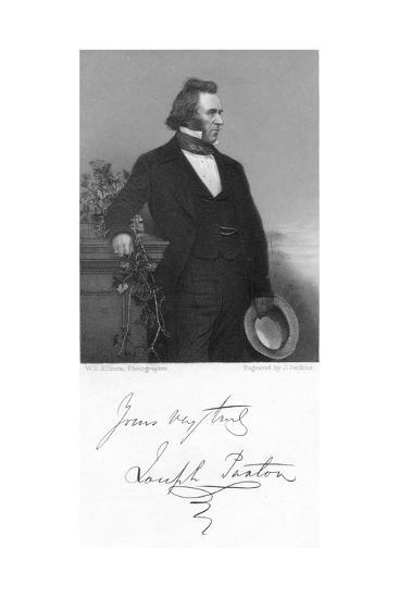 Joseph Paxton, English Gardener and Architect, 1853-J Jenkins-Giclee Print