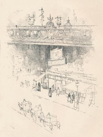 'Corner of Villiers Street, Charing Cross', 1896