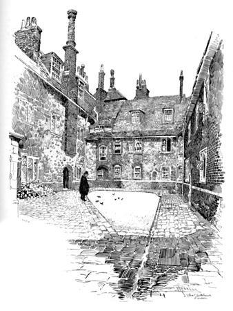 'Old Charterhouse: In Washhouse Court', 1886