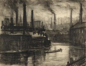 View of East London by Joseph Pennell