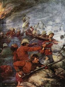 Battle of Rorke's Drift, Natal, Angol-Zulu War, 1879 by Joseph Ratcliffe Skelton