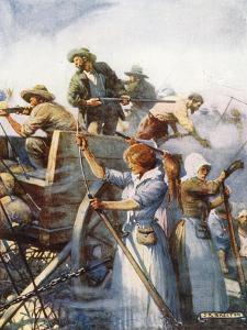 Beside Them Stood the Women Quietly Loading Guns by Joseph Ratcliffe Skelton