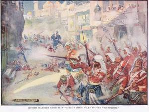 British Soldiers Were Fighting their Way Through the Streets by Joseph Ratcliffe Skelton