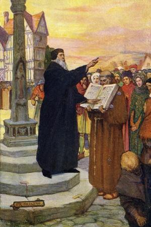 John Wycliffe preaching