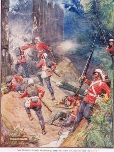 Shouting their War Cry the British Charged the Breach by Joseph Ratcliffe Skelton