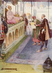 Sir Thomas Stood before the Mogul by Joseph Ratcliffe Skelton
