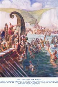 The Romans Arriving in Britain by Joseph Ratcliffe Skelton