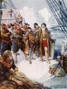 These Cruel Men Meant to Turn Hudson Adrift on the Icy Waters by Joseph Ratcliffe Skelton