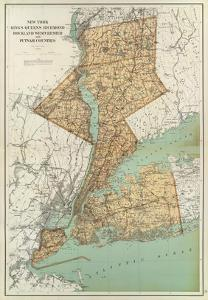 New York: Kings, Queens, Richmond, Rockland, Westchester, Putnam Counties, c.1895 by Joseph Rudolf Bien