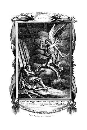 Joseph's Dream: Behold, the Angel of the Lord Appeared Unto Him in a Dream, 1804--Giclee Print
