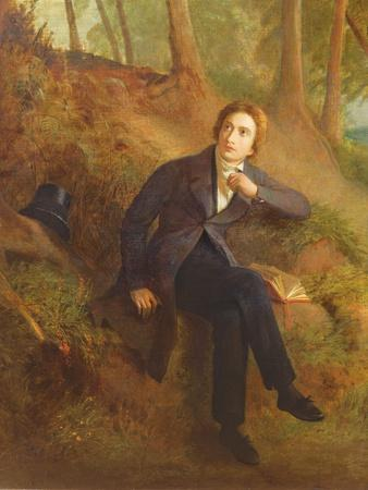 Detail of Keats Listening to the Nightingale on Hampstead Heath, 1845 (See also 145174)