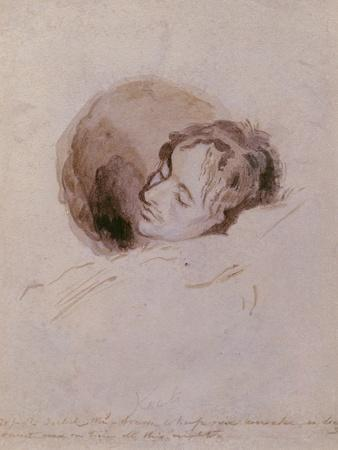 Keats on His Death Bed, 1821