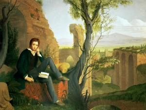Percy Bysshe Shelley (1792-1822) 1845 by Joseph Severn