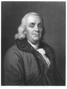 Benjamin Franklin, 18th Century American Scientist, Inventor and Statesman, 1835 by Joseph Siffred Duplessis