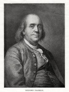 Benjamin Franklin, American Statesman, Printer and Scientist, 20th Century by Joseph Siffred Duplessis