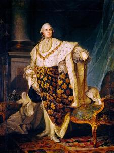 Louis XVI (1754-93) King of France in Coronation Robes, 1777 by Joseph Siffred Duplessis