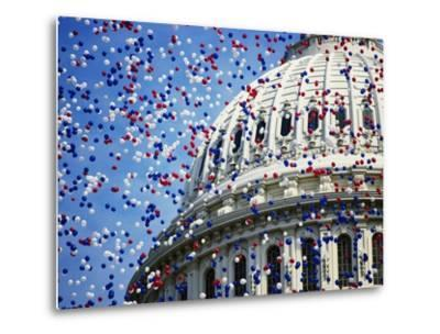 Balloons Floating over U.S. Capitol Dome