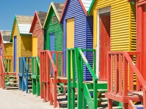 Colored Beach Huts by Joseph Sohm