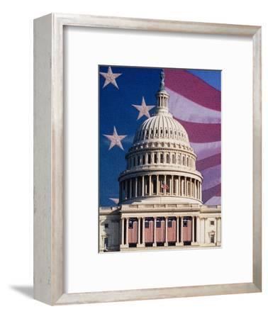 Flag Behind U.S. Capitol