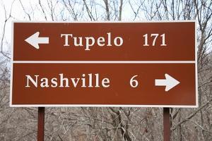 Signs to Tupelo and Nashville by Joseph Sohm