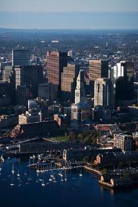 Sunrise Aerials of Boston Skyline and New England by Joseph Sohm