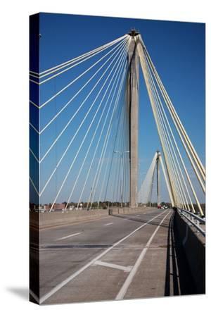 The Clark Bridge over the Mississippi River, also known as Cook Bridge, at Alton, Illinois