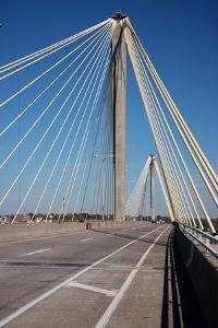 The Clark Bridge over the Mississippi River, also known as Cook Bridge, at Alton, Illinois by Joseph Sohm