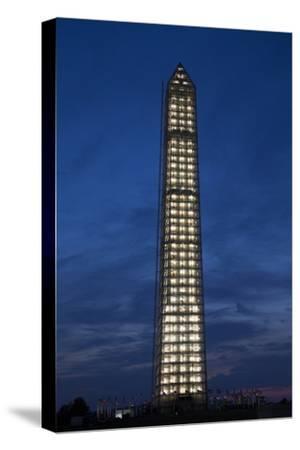 Washington Memorial with Scaffolding at Sunset, Washington DC