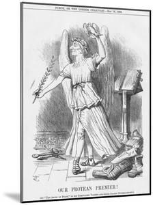 Our Protean Premier!, 1885 by Joseph Swain