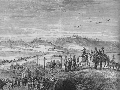 'The British Army Crossing the Sutlej', c1880