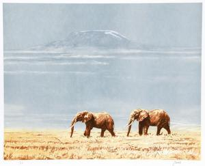 Kilimanjaro Elephants by Joseph Vance