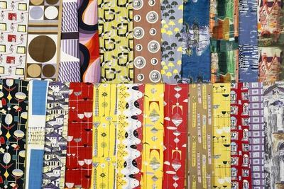 A Collection of Various 1950s British Fabric Designs, Many for Heal's Fabrics