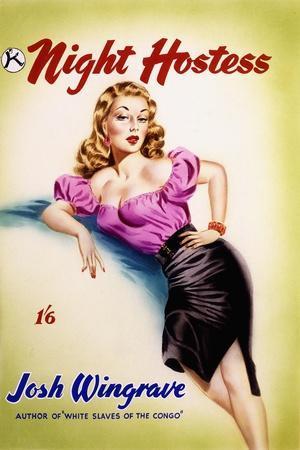 Original Cover Design for 'The Night Hostess' by Josh Wingrave