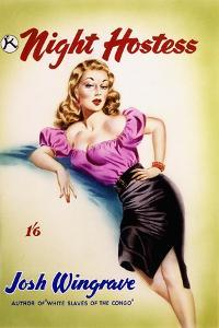 Original Cover Design for 'The Night Hostess' by Josh Wingrave by Joseph Werner